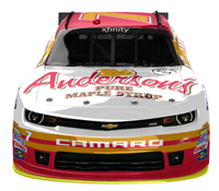 JRM / Anderson's Maple Syrup #7 Xfinity Series car driven by Regan Smith in 2015