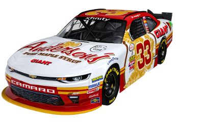 RCR / Anderson's Maple Syrup #33 XFinity Series car driven by Brandon Jones