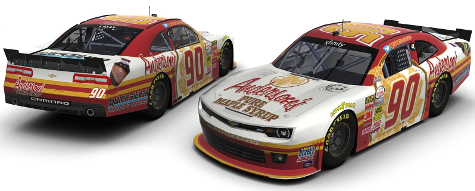 Anderson's Maple Syrup #90 Xfinity Series car driven by Andy Lally in 2015