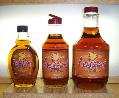Anderson's Pure Maple Syrup.