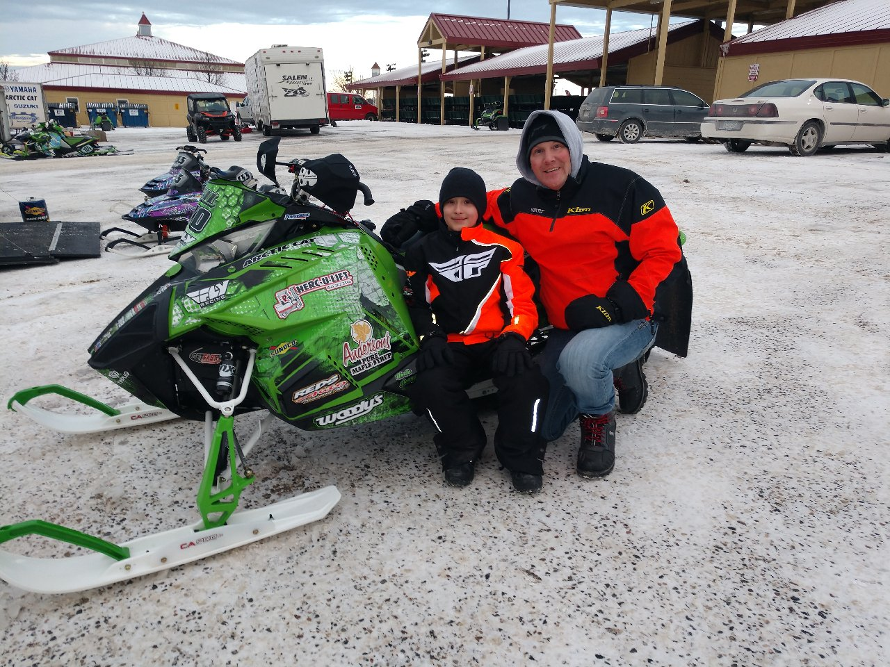 Neil Dees on his 2017 / 2018 Arctic Cat Race Sled.