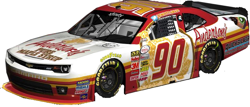 Anderson's Maple Syrup #90 XFinity Series car driven by Andy Lally