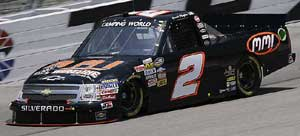 Picture of the Anderson's Maple Syrup logo on #2 KHI Chevrolet driven by David Mayhew.